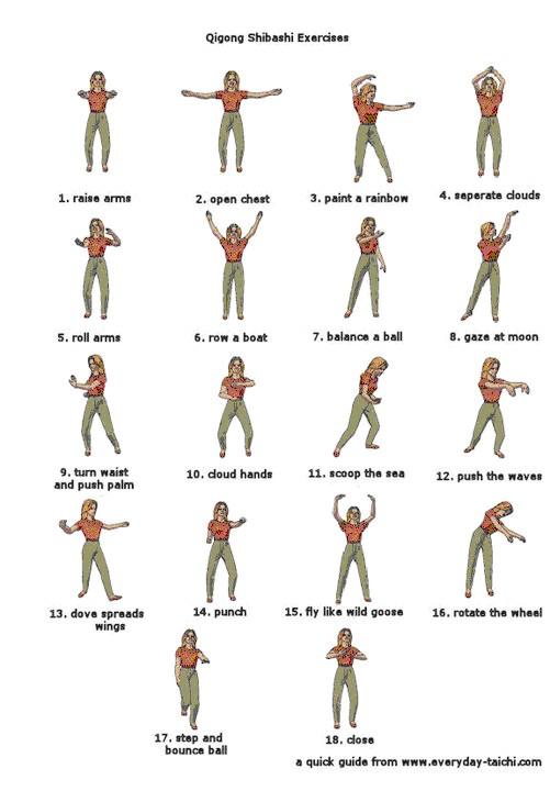 I 18 esercizi di Tai Chi Chi Kung